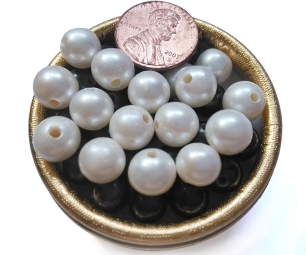 White 9-10mm AA Round Pearls