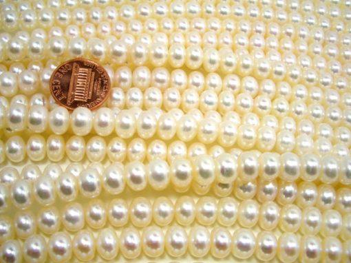 White 8-9mm Button Pearl Strand