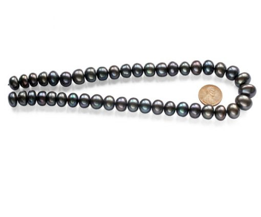 Large 12-13mm AA+ Button Pearl Strand