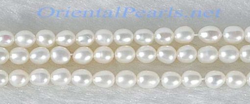 White 2-3mm Small Tiny Rice Pearl Strand