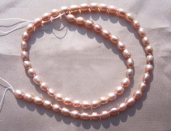 4-5mm Lavender Colored Freshwater Rice or Oval Shaped Loose Pearl Strand