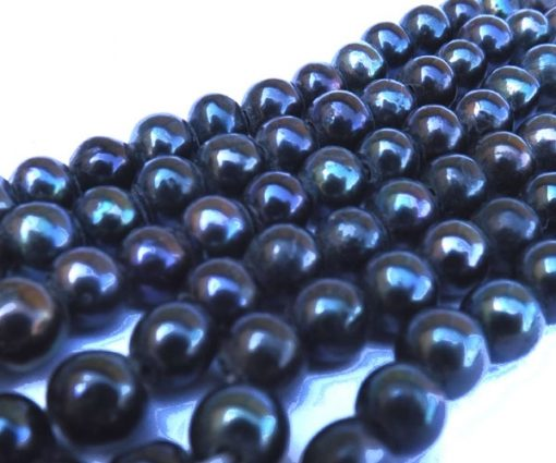 9-10mm AA Side Drilled Back Potato Pearls, Larger Holes