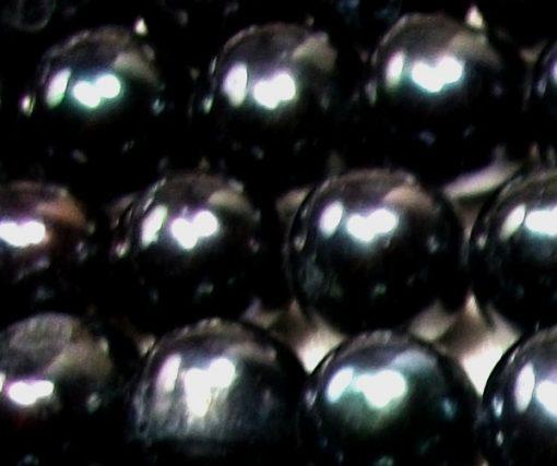 Large 11-12mm Black Semi-Round Pearl Strands