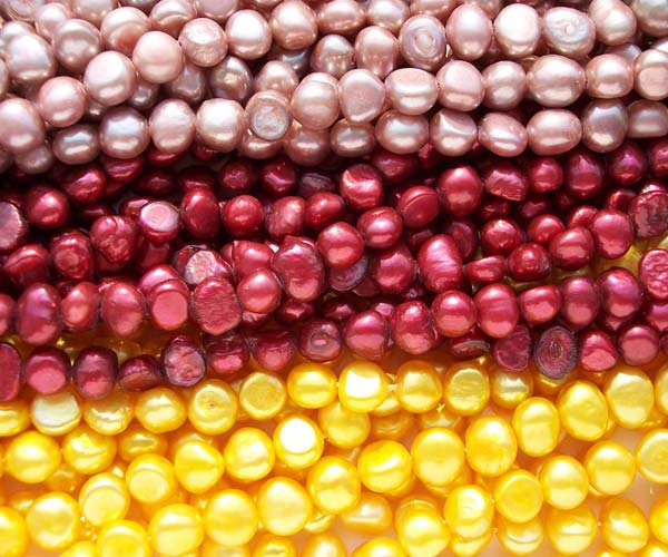 Metallic Purple, Cranberry, Gold 7-8mm Baroque Pearl Strand