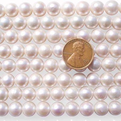 White 9-10mm Round Pearl Strand