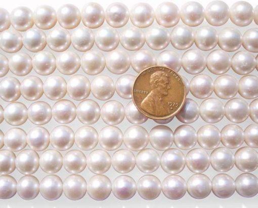 White 9-10mm Round Pearl Strand