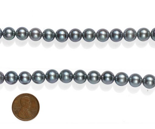 Black 10-11mm Round AA+ Pearls on Temporary Strand