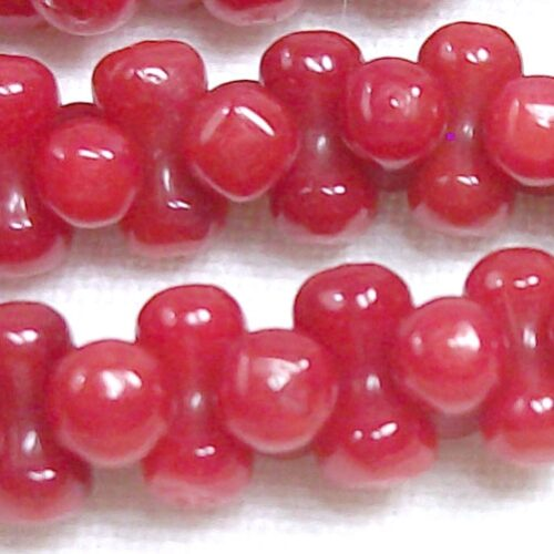 Red Coral Gemstone, Double Sided 3-3.5mm Round Coral Beads