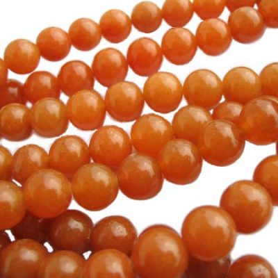 Sunny Yellow 8mm Round Jade Beads on Temporary Strand