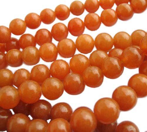 Sunny Yellow 8mm Round Jade Beads on Temporary Strand