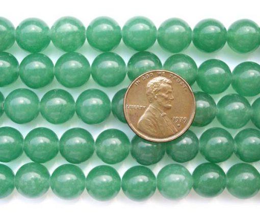 Light Green 10mm Round Jade on Temporary Strand