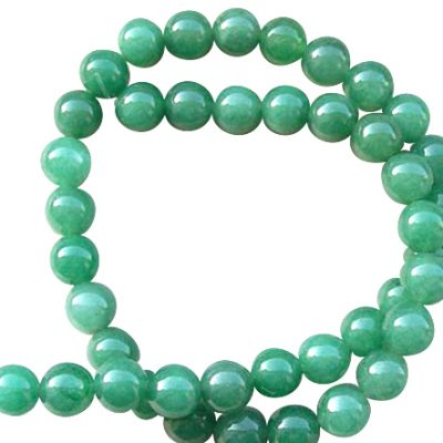 10mm Round Jade on Temporary Strand