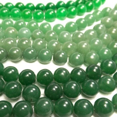 12mm Round Green Jade Beads