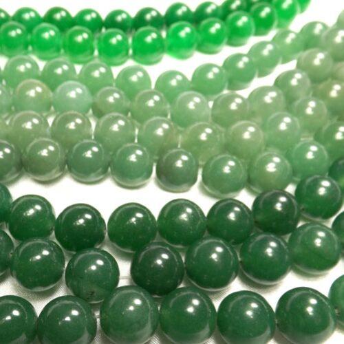 12mm Round Green Jade Beads