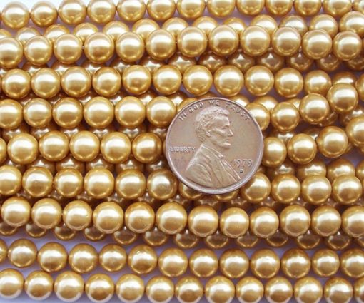 Champagne 6mm SSS Pearl Strand