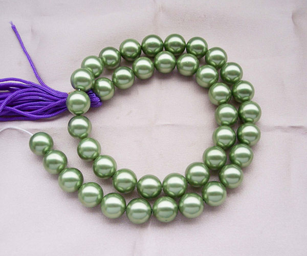 Peacock Green 10mm SSS Pearl Strands