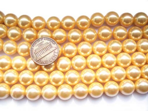 Yellow 10mm SSS Pearl Strands