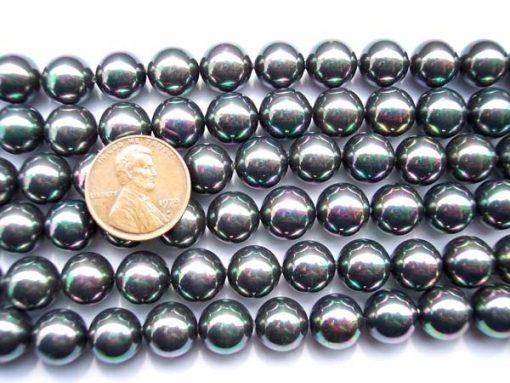 Black 10mm SSS Pearl Strands
