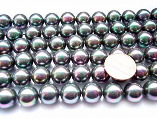Black 12mm SSS Pearl Strands