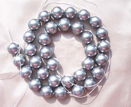 Silver Grey 12mm SSS Pearl Strands