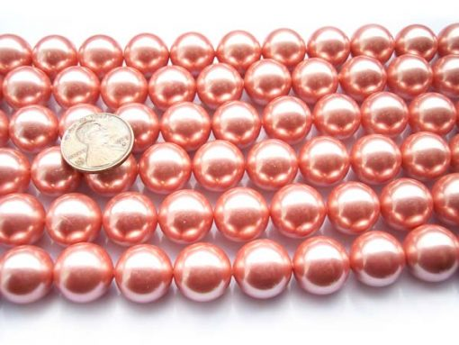 Pink 14mm SSS Pearl Strands