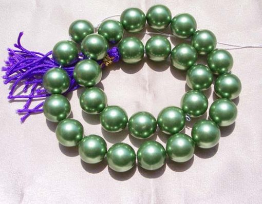 Peacock Green 14mm SSS Pearl Strands