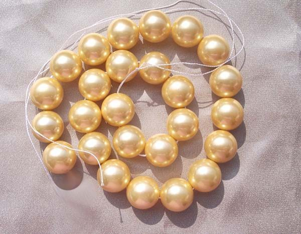 Gold 16mm SSS Pearl Strands