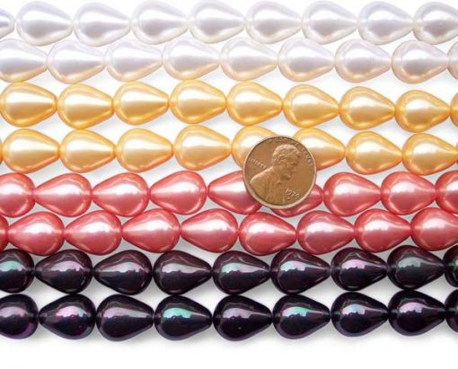 Large 12X15mm Southsea Shell Teardrop Pearls Strands