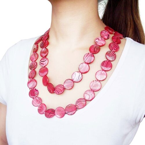 20mm Claspless MOP Necklace 48in Long