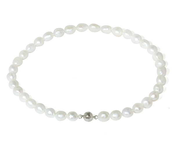Pearl Necklace Clasps: 11-12mm AA+ Baroque Pearl Necklace Magnetic Clasp