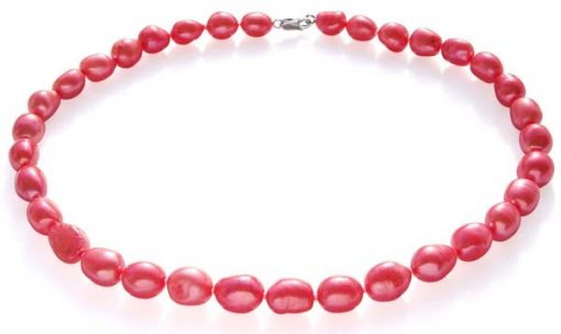Pink 10-12mm Baroque High AA+ Quality Pearl Necklace