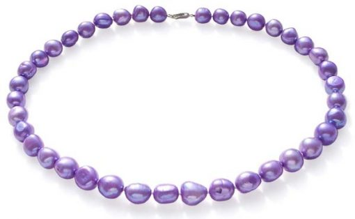 Purple 10-12mm Baroque High AA+ Quality Pearl Necklace