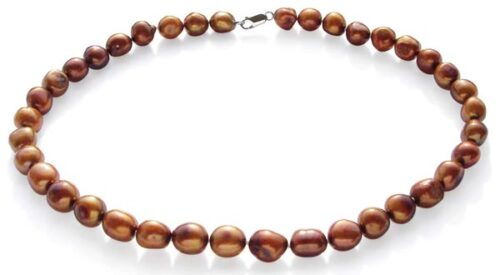 Chocolate 10-12mm Baroque High AA+ Quality Pearl Necklace