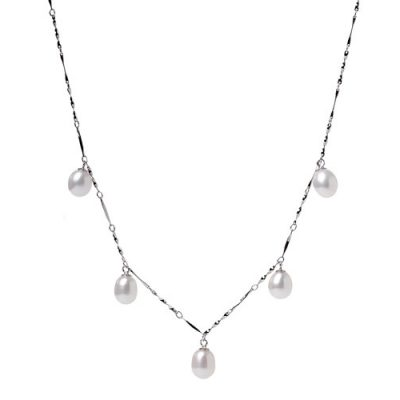 White 7-8mm SS AAA Drop Pearl Necklace