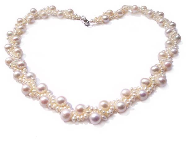 White Bridal Pearl Necklace