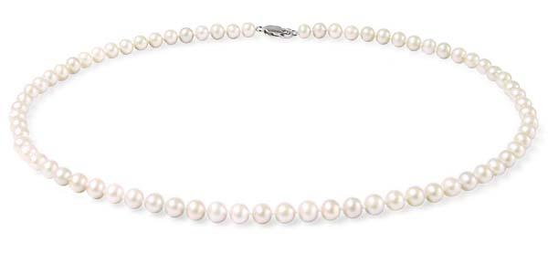 5-5.5mm White Single Pearl Strand in 925SS,18in