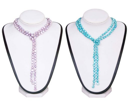64in Long 7-8mm Clasp Less Baroque Pearl Necklace