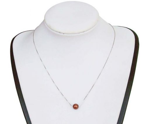 Cranberry 7-8mm AAA Round Add-a-Pearl Necklace, 925 SS