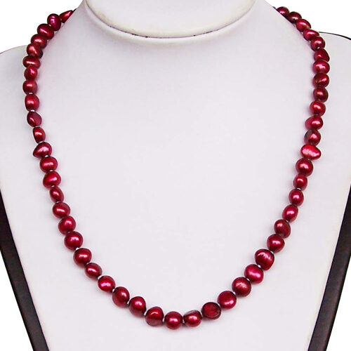 7-8mm Single Row Baroque Pearl Necklace