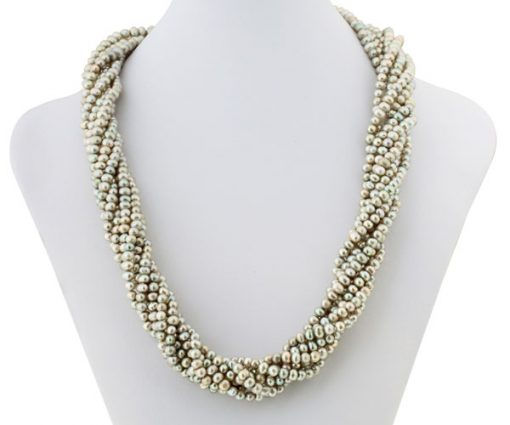 Champagne Colored 8-Row Pearl Necklace