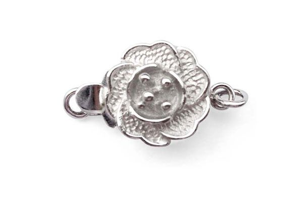 Silver Rose shaped clasp
