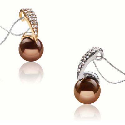 Chocolate 12mm SSS Pearl Pendant