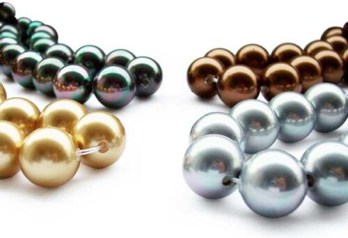 Peacock Green, Chocolate, Champagne and Grey Drilling Service - Drill Larger Holes for Loose Pearl Strand