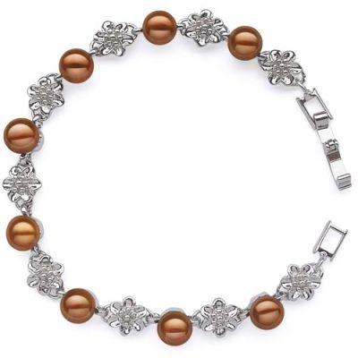 Chocolate Pearl Bracelet - XO Bracelet