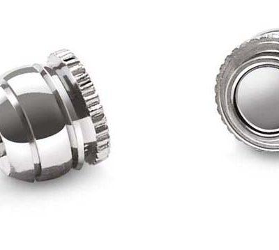 18k WG Overlay Magnetic Double Ball Clasp