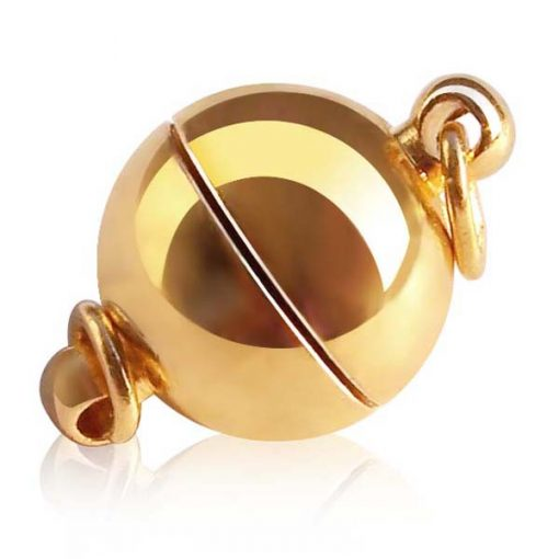 18k YG Overlay Magnetic Ball Clasp