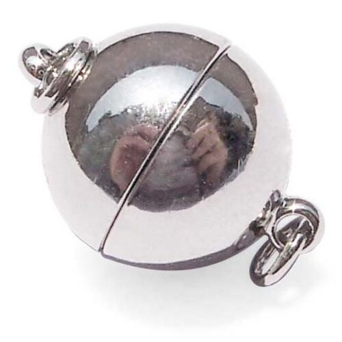 18k WG Overlay Magnetic Ball Clasp