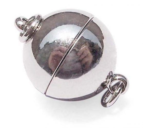 18k WG Overlay Magnetic Ball Clasp