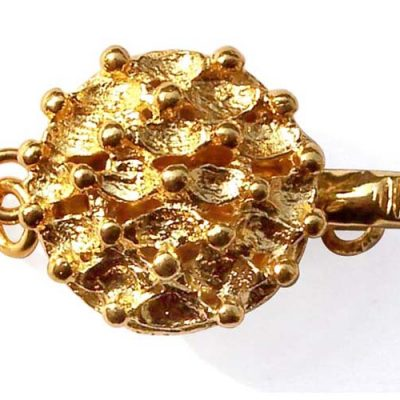 18K YG overlay Bubble Design Clasp for Single Row Clasp
