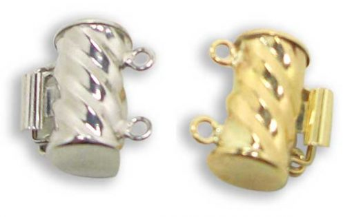 14K YG or WG for Two Row Pearls Clasps